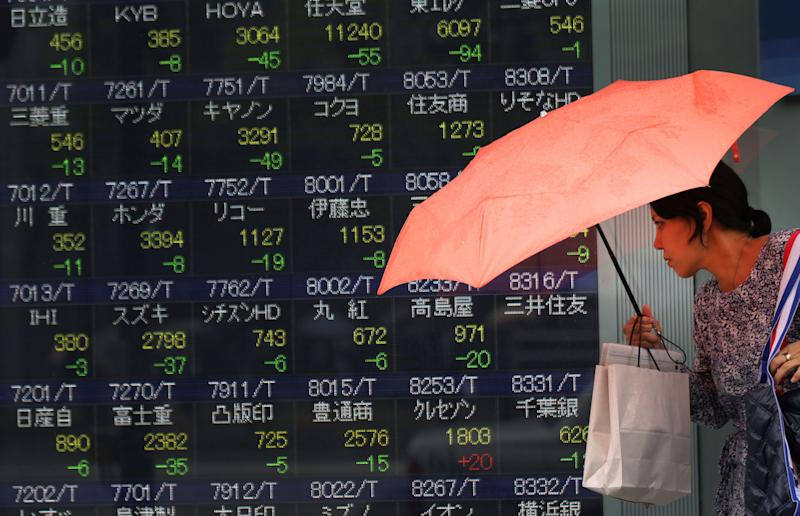 World stocks mostly up after China factory data