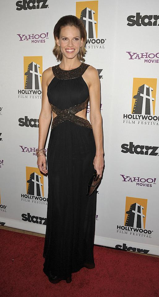 "<a href=""http://movies.yahoo.com/movie/contributor/1800020739"">Hilary Swank</a> at the 13th Annual Hollywood Awards Gala held at the Beverly Hilton Hotel - 10/26/2009"