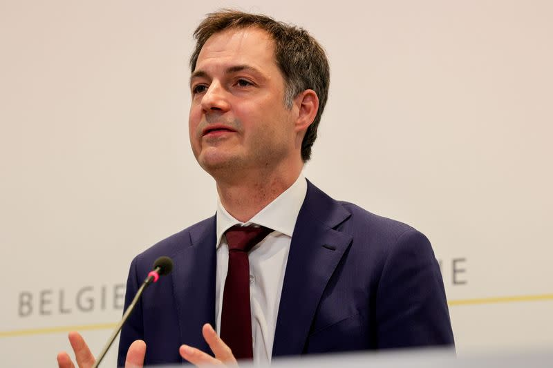 Belgium's government news conference on new COVID-19 related restrictions, in Brussels