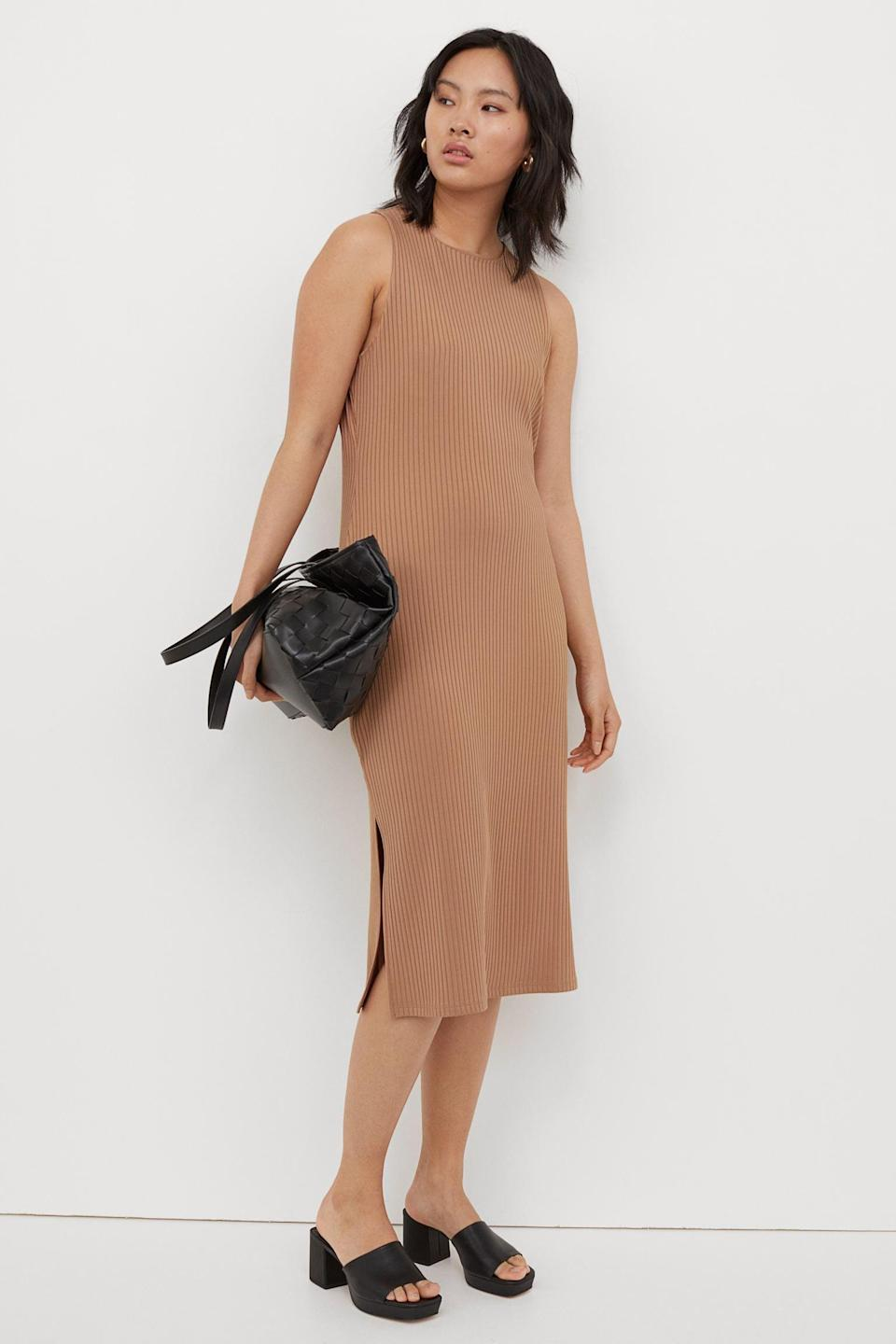 <p>This <span>Ribbed Dress</span> ($25) is guaranteed crowd-pleaser that you can easily dress up or down.</p>