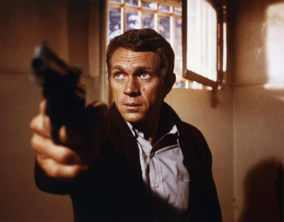 American actor Steve McQueen on the set of Bullitt, directed by Peter Yates. (Photo by Sunset Boulevard/Corbis via Getty Images)