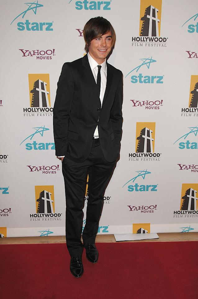 """<a href=""""http://movies.yahoo.com/movie/contributor/1808543881"""">Zac Efron</a> at the Hollywood Film Festival's Hollywood Awards in Beverly Hills - 10/22/2007"""