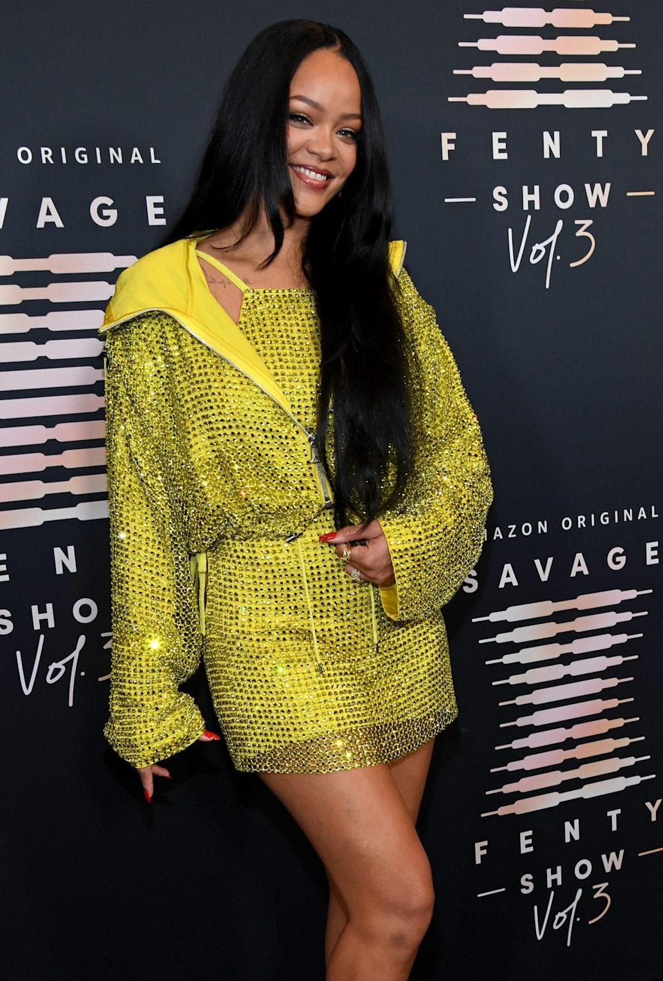 <p>Rihanna celebrates her Savage X Fenty Vol. 3 show in Los Angeles on Sept. 21 with a star-studded red carpet ahead of the runway show. </p>