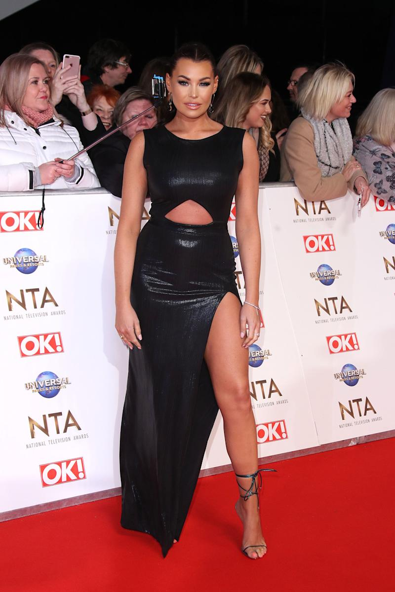 LONDON, ENGLAND - JANUARY 28: Jessica Wright attends the National Television Awards 2020 at The O2 Arena on January 28, 2020 in London, England. (Photo by Mike Marsland/WireImage)