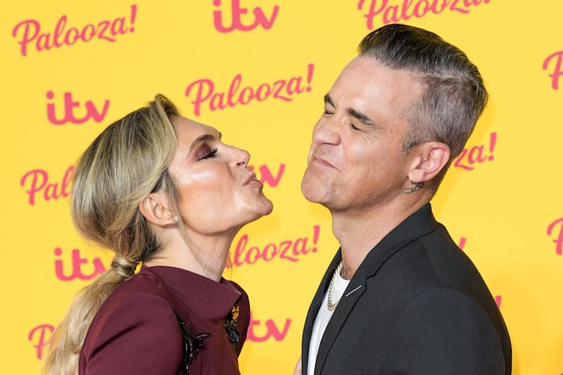 Ayda Williams and Robbie Williams attending ITV Palooza! held at Royal Festival Hall, Southbank, London.