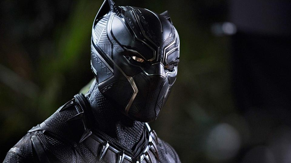 Chadwick Boseman in his high-tech supersuit in<em> Black Panther.</em> (Photo: Marvel Studios)