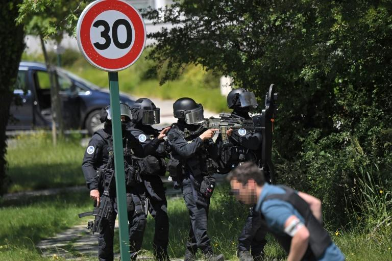 French police launched a manhunt for the suspect who was fatally injured in a shootout