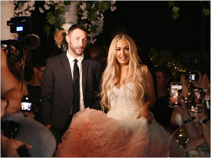 "Tana's manager Jordan walked her down the aisle at her ""wedding"" to Jake Paul."