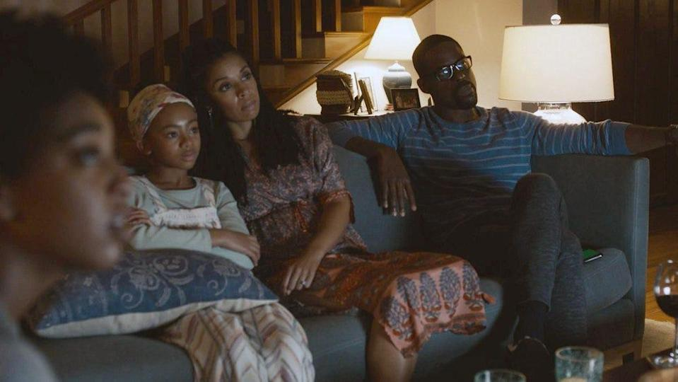 "Eris Baker as Tess, Faithe Herman as Annie, Susan Kelechi Watson as Beth and Sterling K. Brown as Randall on ""This Is Us."""