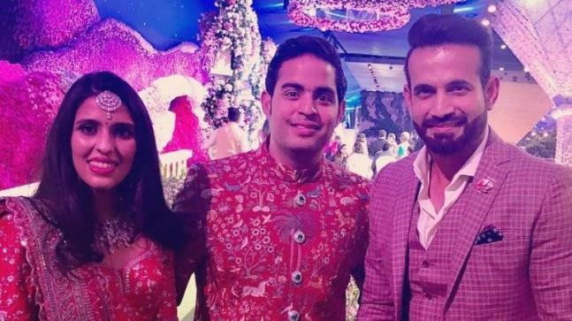 Irfan Pathan recently congratulated Akash Ambani and Shloka Mehta on Instagram. Reliance chairperson, Mukesh Ambani and Nita Ambani's son, Akash tied the knot with Shloka in a dreamy wedding.