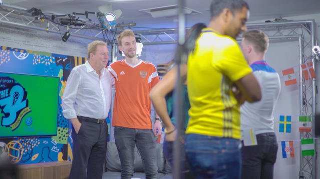 Harry Redknapp was Yahoo's studio guest for the first episode of 'The 32'