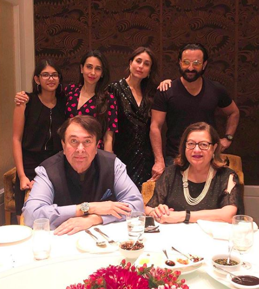 <p>Randhir Kapoor's birthday bash </p>