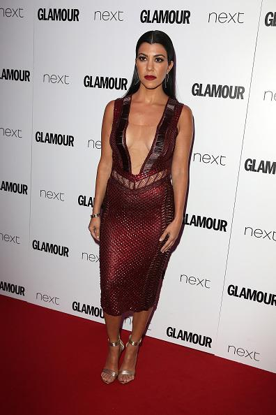 <p>Kourtney stunned in a fierce Julien Macdonald dress from the brand's SS16 collection. It's hard to believe she is a mother-of-three,<i>[Photo: Fred Duval/FilmMagic]</i></p>