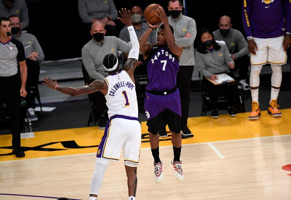 The Lakers had a chance to add NBA champion Kyle Lowry to their roster at the trade deadline. Now they surely wish they had. (Getty)
