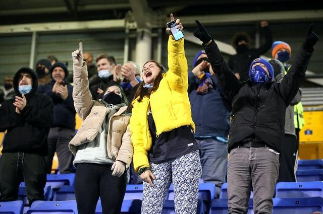 Fans returned to grounds on Wednesday night (