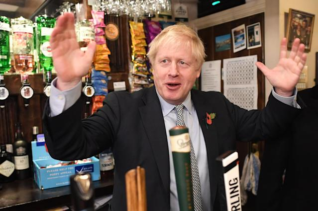 Prime minister Boris Johnson is winning over voters in northern English towns, a poll says (Picture: PA/Getty)