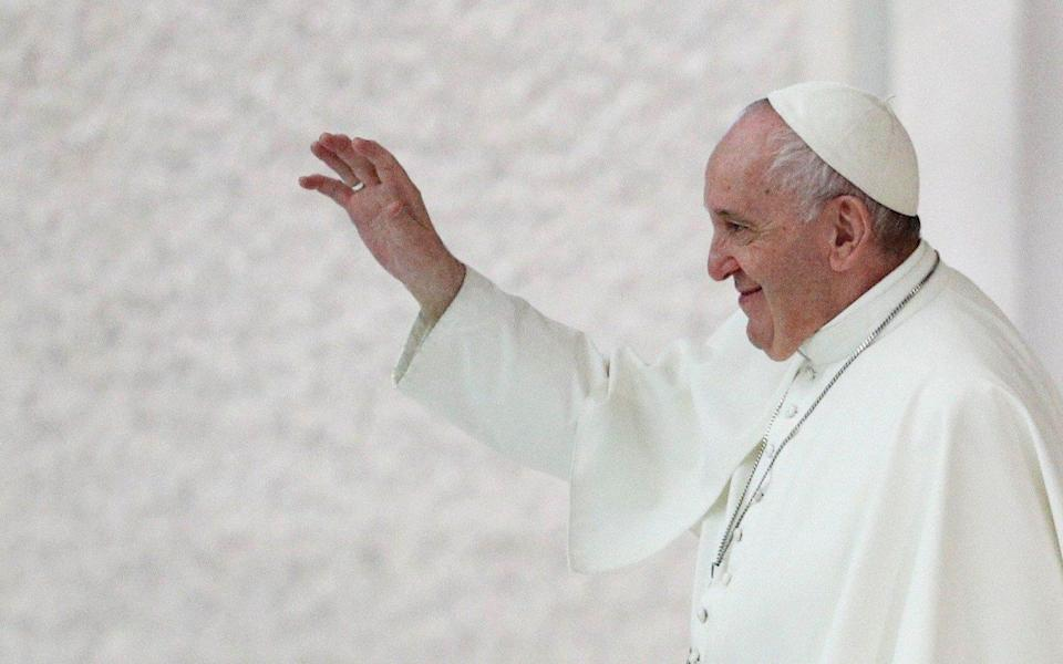 Pope Francis has said that homosexual couples should be protected by civil union laws - GUGLIELMO MANGIAPANE/REUTERS
