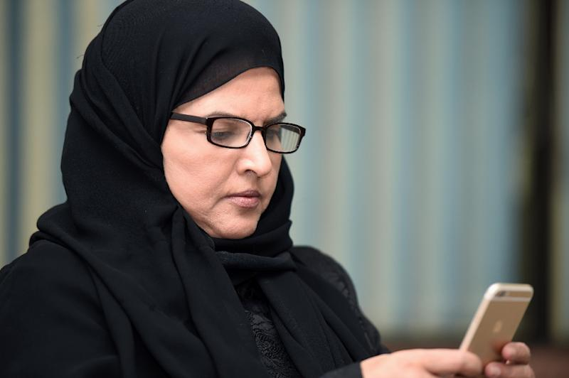 Activist Aziza al-Yousef, pictured here during an interview in Riyadh on September 27, 2016, is one of 10 Saudi women who has gone on trial after being detained for a year without charge (AFP Photo/FAYEZ NURELDINE)