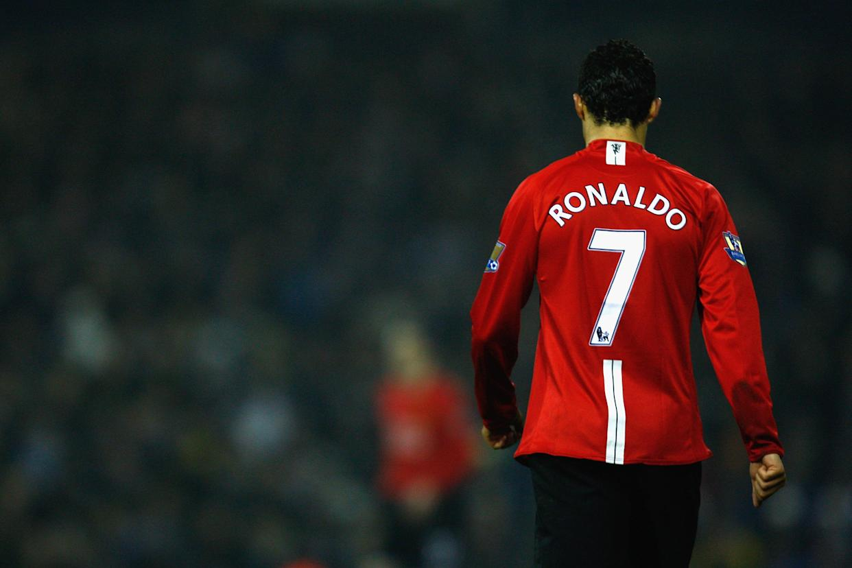Cristiano Ronaldo is returning to Manchester United. If only it were as easy as celebrating the reunion. (Photo by Mark Thompson/Getty Images)