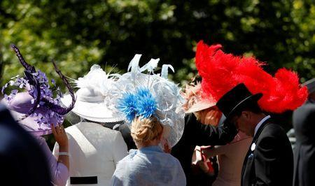 Horse Racing - Royal Ascot - Ascot Racecourse, Ascot, Britain - June 21, 2018 General view of racegoers' hats before the start of the racing Action Images via Reuters/Andrew Boyers