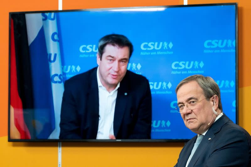 FILE PHOTO: Virtual CDU new year reception in Cologne