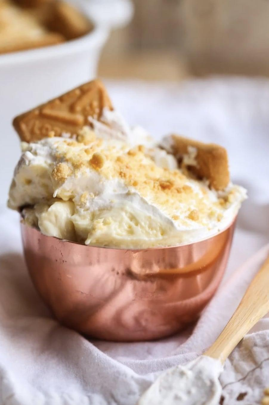 "<p>Creamy, rich, and oh-so good, this banana pudding recipe is the one you've always wanted. Serve it in individual ramekins or in a trifle dish. Yum! </p> <p><strong>Get the recipe</strong>: <a href=""https://cookiesandcups.com/best-banana-pudding/"" class=""link rapid-noclick-resp"" rel=""nofollow noopener"" target=""_blank"" data-ylk=""slk:banana pudding"">banana pudding</a></p>"