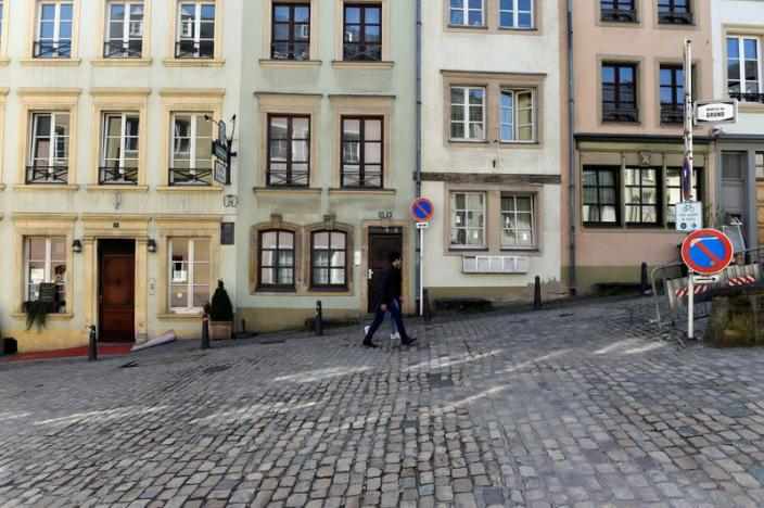 FILE PHOTO: View of the grund quarter in central city of Luxembourg,