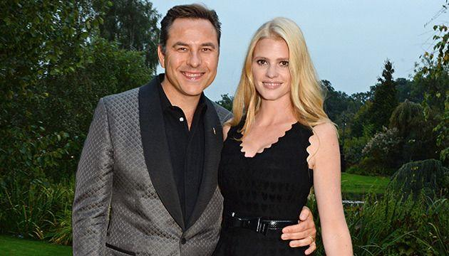 Lara Stone and David Walliams in happier times. Photo: Getty Images.