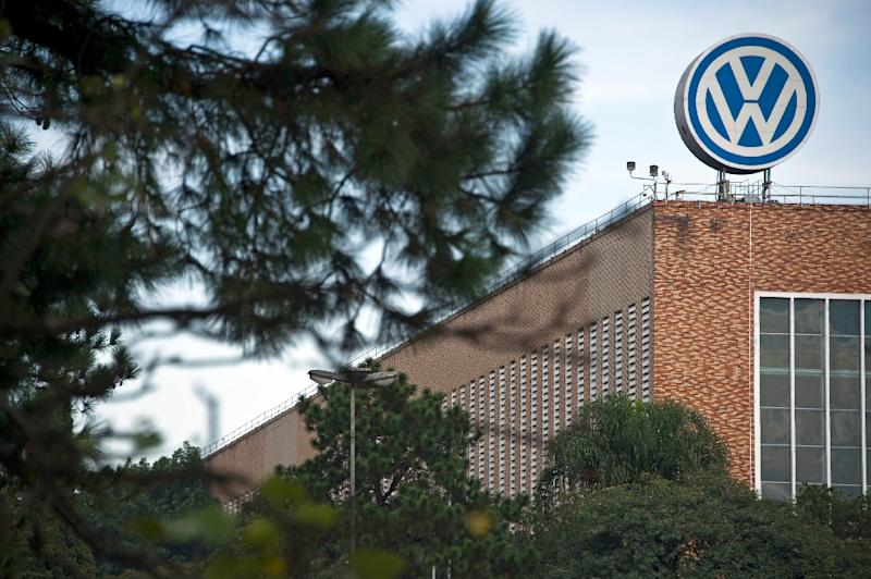 View of the German carmaker Volkswagen's plant in Sao Bernardo do Campo, 25kms south of Sao Paulo, Brazil on May 15, 2015