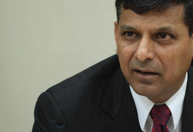 Reserve Bank of India governor Raghuram Rajan speaks during a news conference at RBI headquarters in Mumbai on August 5, 2014