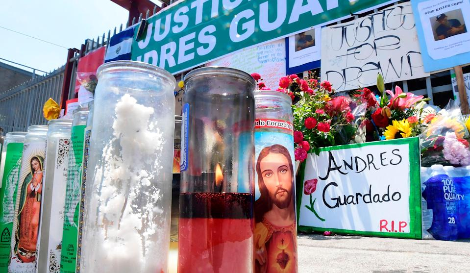 Family of Andres Guardado allege he was killed as result of police gang initiation (AFP via Getty Images)
