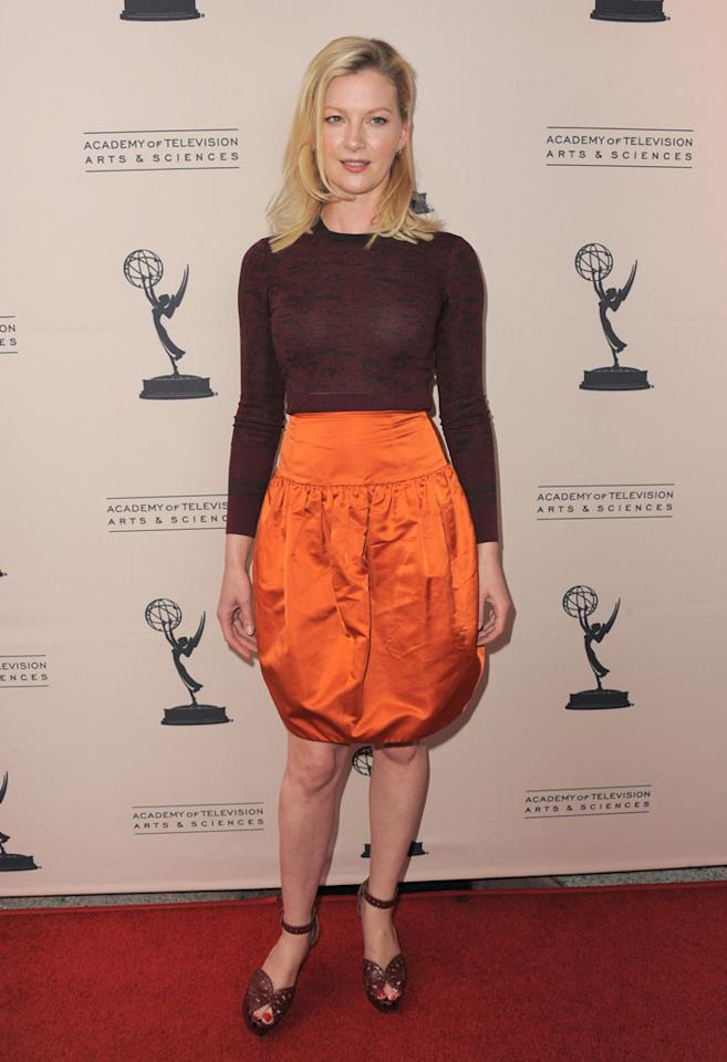 """Gretchen Mol arrives at The Academy of Television Arts & Sciences Presents An Evening With """"<a href=""""http://tv.yahoo.com/boardwalk-empire/show/41428"""">Boardwalk Empire</a>"""" event at Leonard H. Goldenson Theatre on April 26, 2012 in North Hollywood, California."""