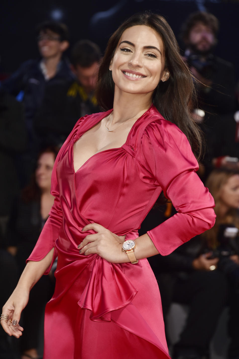 VENICE, ITALY - SEPTEMBER 04:  Ana Brenda Contreras walks the red carpet wearing a Jaeger-LeCoultre watch ahead of the 'Three Billboards Outside Ebbing, Missouri' screening during the 74th Venice Film Festival at Sala Grande on September 4, 2017 in Venice, Italy.  (Photo by Pascal Le Segretain/Getty Images for Jaeger-LeCoultre)