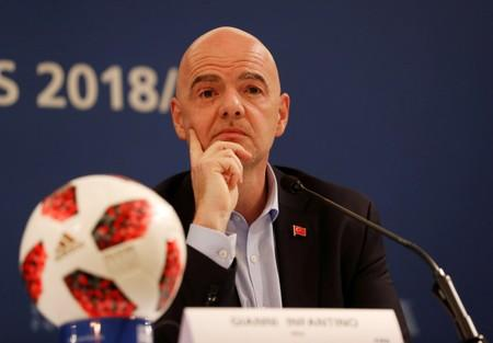FIFA President Gianni Infantino Media Briefing