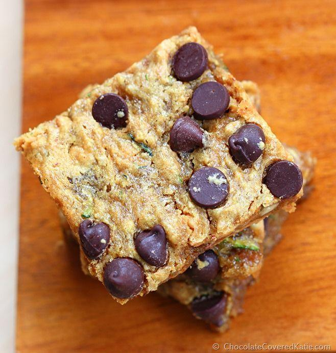 """<p>If you're addicted to brownies, we just found the healthy way to satisfy your cravings.</p><p>Get the recipe from <a href=""""http://chocolatecoveredkatie.com/2014/11/03/chocolate-chip-zucchini-bars/"""" rel=""""nofollow noopener"""" target=""""_blank"""" data-ylk=""""slk:Chocolate-Covered Katie"""" class=""""link rapid-noclick-resp"""">Chocolate-Covered Katie</a>.<br></p>"""