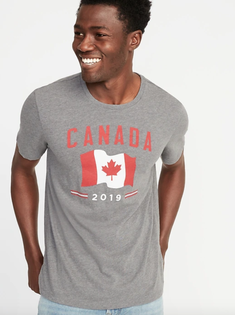 Canada-Graphic 2019 Flag Tee for Men.