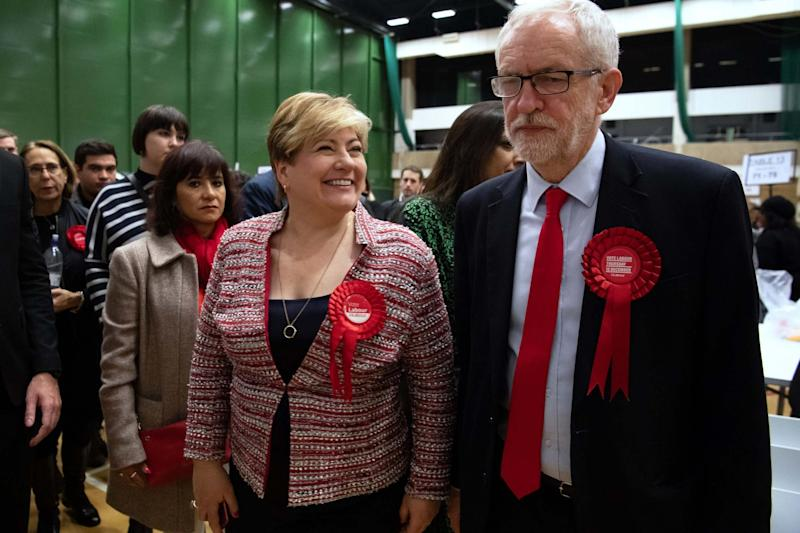 Jeremy Corbyn (R) and shadow foreign secretary Emily Thornberry (Getty Images)