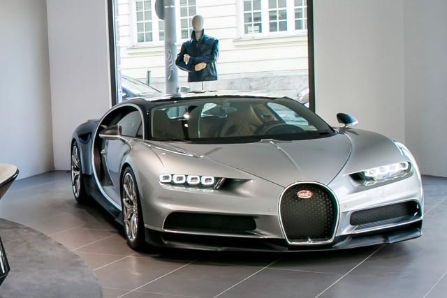 Munich Bugatti Chiron >> Silver Chiron is star of Bugatti's new Munich boutique and showroom