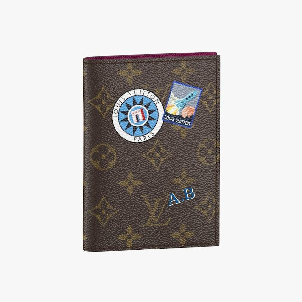 "$545, LOUIS VUITTON. <a href=""https://us.louisvuitton.com/eng-us/products/passport-cover-my-lv-world-tour-monogram-nvprod610009"" rel=""nofollow noopener"" target=""_blank"" data-ylk=""slk:Get it now!"" class=""link rapid-noclick-resp"">Get it now!</a>"
