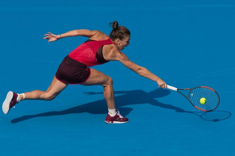 Simona Halep of Romania, pictured in October 2017 at the China Open, will defend her world number one title at the WTA Finals in Singapore