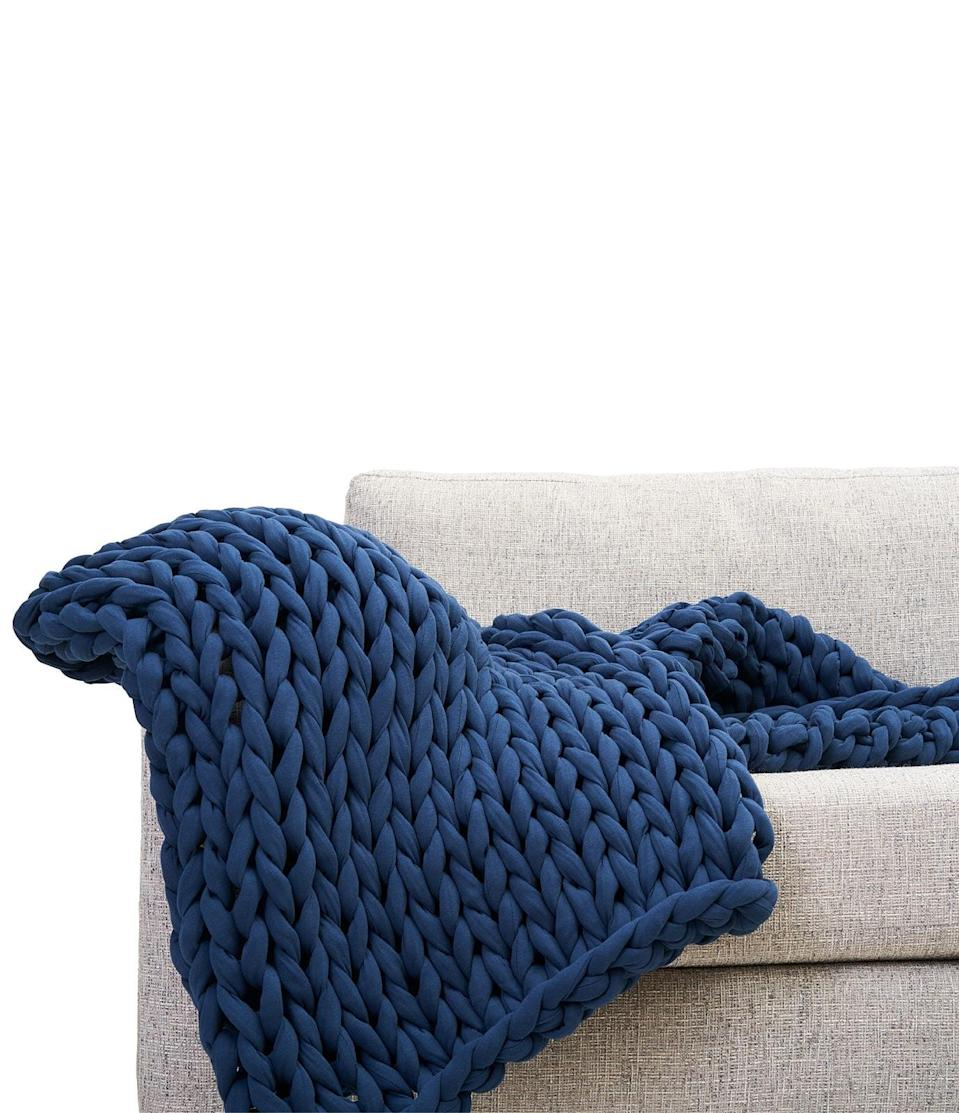 <p>I adore the dark navy shade of this <span>Bearaby Cotton Napper</span> ($249).</p>