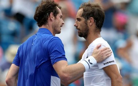 Andy Murray congratulates Richard Gasquet - Credit: getty images