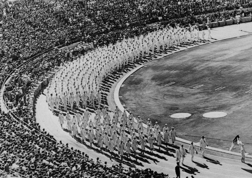 The opening ceremony of Japan's first Olympics (EPU/AFP/ Getty)