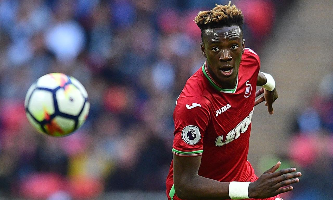 Tammy Abraham took on the task of leading the Swansea City line admirably against Tottenham.