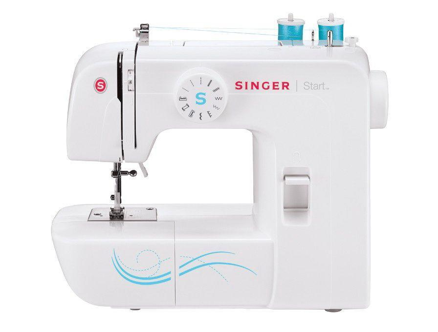 "<p><strong>Singer </strong></p><p>sewingmachinesplus.com</p><p><strong>$149.00</strong></p><p><a href=""https://go.redirectingat.com?id=74968X1596630&url=https%3A%2F%2Fwww.sewingmachinesplus.com%2Fsinger-1304-start-sewing-machine.php&sref=https%3A%2F%2Fwww.goodhousekeeping.com%2Fhome-products%2Fg27760473%2Fbest-sewing-machines-for-beginners%2F"" rel=""nofollow noopener"" target=""_blank"" data-ylk=""slk:Shop Now"" class=""link rapid-noclick-resp"">Shop Now</a></p><p>For your first sewing machine, a simple design with a durable metal frame has that has the capacity for bigger projects is a great starting off point. With 6 stitches including straight with varied lengths, zig zag with varied widths, and scallop for decorative detailing, this machine has the basics you'll need. Coming with three presser feet, this machine can easily make button holes and can even accommodate a twin needle. Plus, it has a handle and weighs under 13 pounds for easy traveling. It is also less than <strong>$80 for a quality brand sewing machine </strong>— an excellent place to start learning.</p>"