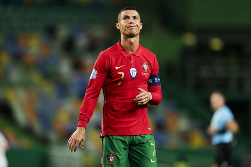 LISBON, PORTUGAL - OCTOBER 7: Cristiano Ronaldo of Portugal during the International Friendly match between Portugal v Spain at the Jose Alvalade stadium on October 7, 2020 in Lisbon Portugal (Photo by David S. Bustamante/Soccrates/Getty Images)