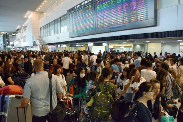 Flights cancelled as Typhoon Tapah approaches Japan