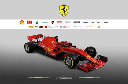 The new Ferrari F1 car model SF71H is seen in this handout photo released from Maranello