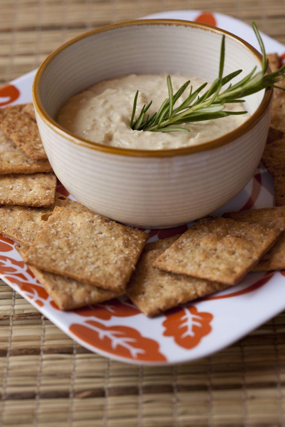 <p>We love a good hummus for dipping. Crackers are always a go-to and certain varieties can be somewhat healthy, but they are often loaded with excessive amounts of sodium and minimal fiber.</p>
