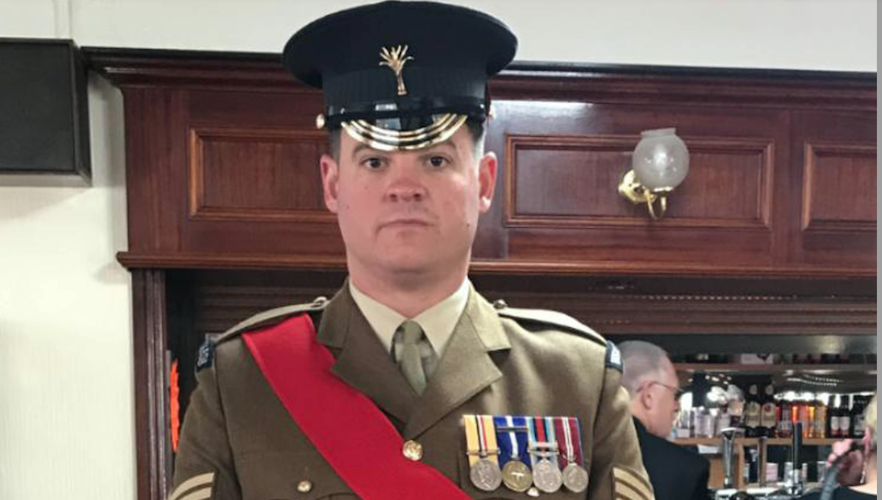 Sergeant Gavin Hillier died after being injured in a live firing exercise in south-west Wales. (PA)